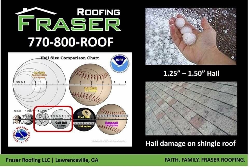 Hail Damage On Shingle Roof